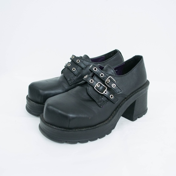 3147c6fa444 Demonia Shoes - Demonia Trump Chunky Platform Shoes Goth Punk